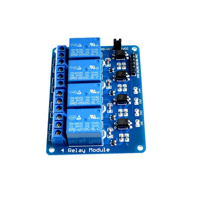 Brand New 5V 4 Channel Relay Module PIC ARM DSP AVR Raspberry Pi