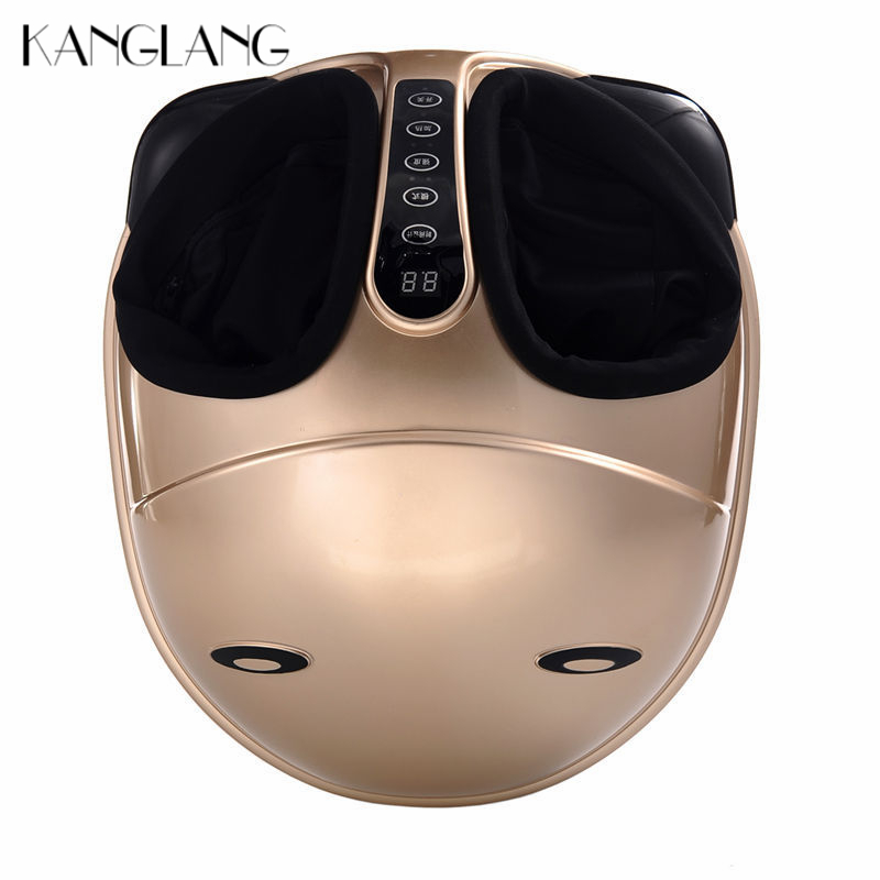 KANGLANG Electric Foot Massager Machine Shiatsu Heat Infrared Kneading Rolling Vibration Display Air Pressure Foot Relax 220V kanglang 4d multi function electric foot massager circular massage airbags heat scrap leg machine old man leg massager device