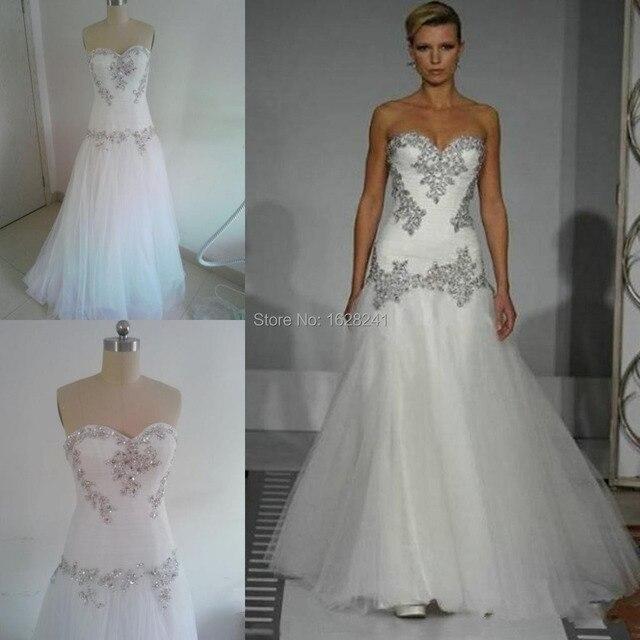 2015 Wedding Dresses Pnina Tornai Sweetheart Bling Bling Tulle ...