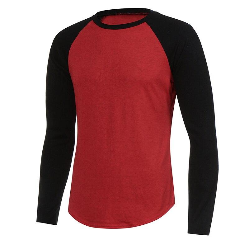 URSPORTTECH Brand Fashion Men's Long Sleeve T-shirt Autumn Winter Casual Vintage Patchwork Top Blouse Cotton Homme tshirt S-4XL