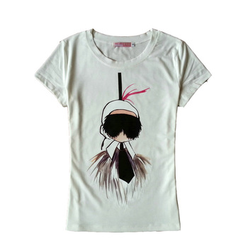 2018 T shirt women summer cotton  short sleeve cartoon print tshirt  tee femme lady fashion camisetas tops brand  1