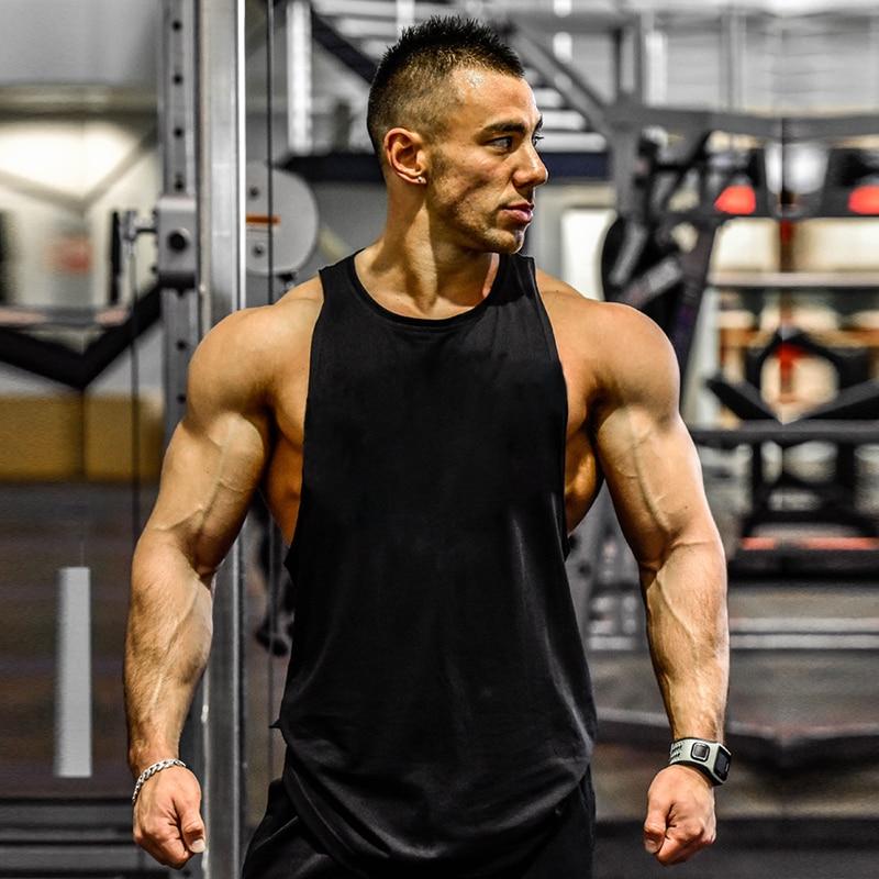 Men/'s Sleeveless Bodybuilding Stringer Tank Top Singlet Gym Muscle Sport Vest