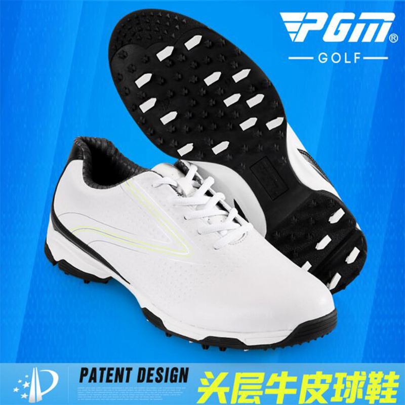 2017 new PGM Golf Shoes Mens Cowhide Leather anti-skid breathable waterproof design sneakers freeshippin pgm authentic golf shoes men waterproof anti skid high quality male sport sneakers breathable shoes