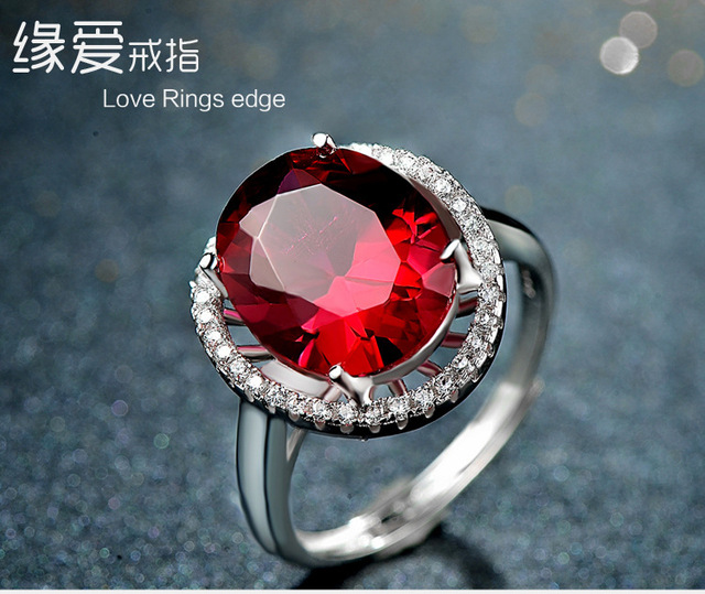 2016 Fine Jewelry Genuine 925 Sterling Silver Rings Gem Fashion Ring For Women Engagement Wedding Ring Fashion Jewelry
