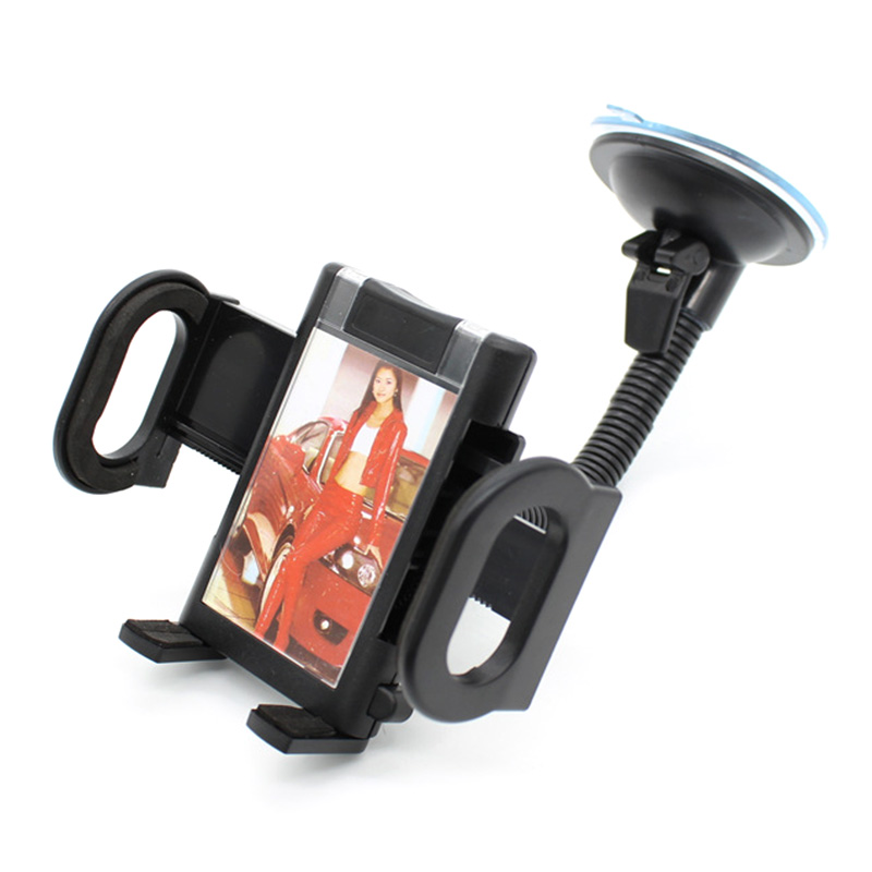 JEREFISH Universal Car Windshield Phone Holder Suction Cup Car Mount Holder with Photo Frame Stand For Cell Phone
