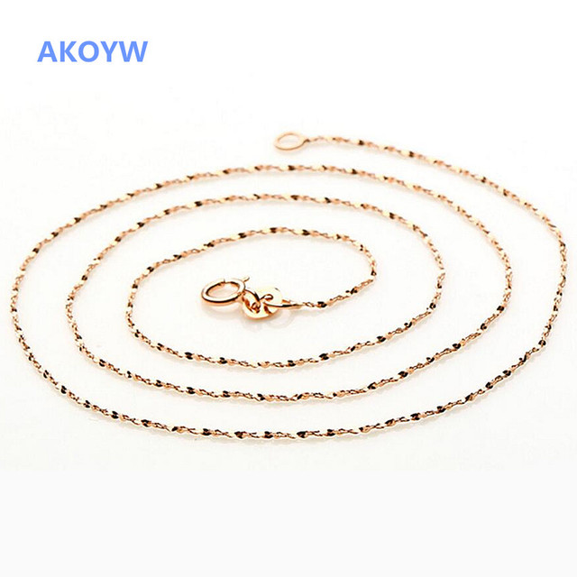 AKOYW sweet temperament rose gold necklace aesthetic girls clavicle