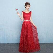 353a1c7dd2 Dekolt w serek koronki czerwone suknie balowe linia formalna Party sukienki  metalowe Sashes Lace Up powrót