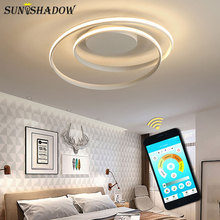 Simple Modern Led Ceiling Light Black&White Surface Mounted LED Chandelier Ceiling Lamp For Living room Bedroom Dining room Lamp black white square round led ceiling lamp living room dining room bedroom hall kitchen decoration modern dimming ceiling lamp