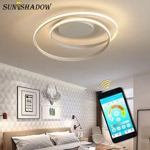 все цены на Simple Modern Led Ceiling Light Black&White Surface Mounted LED Chandelier Ceiling Lamp For Living room Bedroom Dining room Lamp онлайн
