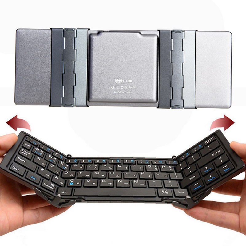 Bluetooth Keyboard For Android Price: New Arrival Travel Metal Folding Bluetooth 3.0 Keyboard Portable Tablet Bluetooth Keyboard