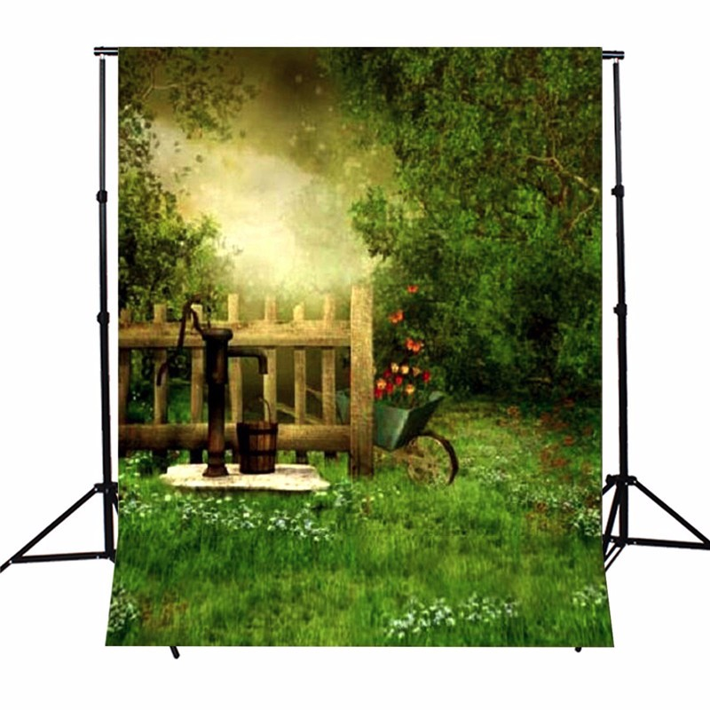 3x5ft Vinyl Photography Backgrounds Spring Outdoors Baby Photographic Backdrops For Studio Photo Props Cloth 0.9mx 1.5m 10ft photography backdrops vinyl cloth print study room photo studio backgrounds for photographic props cm 4817