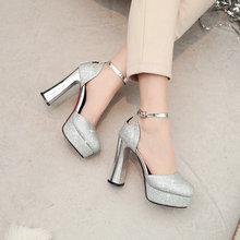 d8897bbf Sandalias de verano Zapatos de tacón alto zapatos de plataforma de mujer de  moda con lentejuelas Super alta tacones de plata de .