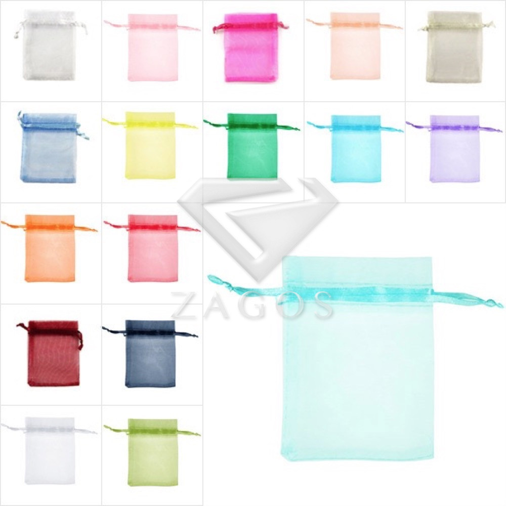 25pcs 7x9cm Bag Organza Rectangle Pouch Bags Gift Wedding Jewellery Reception Party Sweets Favours Wholesale BB0011