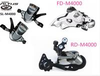 SHIMANO ALIVIO M4000 9S 27S Speed mini 3 Parts Groupset with Shifter Lever and Front and Rear Derailleur