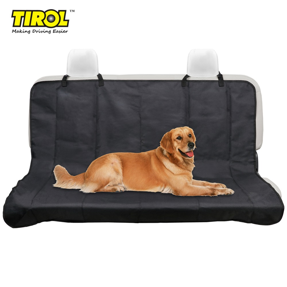 TIROL T14668b New Car Back Water-proof Seat Cover Pet for Cat Dog Protector Mat Rear Safety Travel Black outing dog cat pet car truck seat cover hammock carpet mat beige