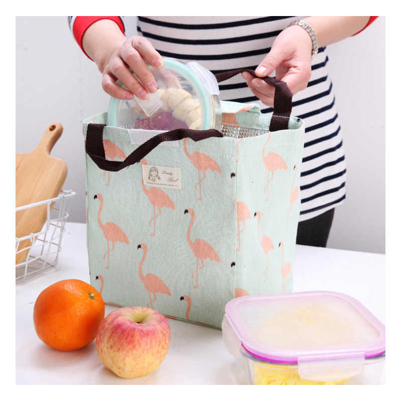 Thermal Insulation Baby Milk Bottle Keep Warm Bag Flamingo Woman Portable Thermo Bag Infant Food Breast Milk Warmer Beach Tote