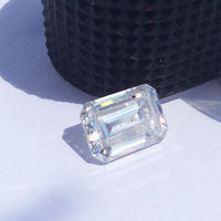 13*11mm DEF Color Emerald Shape Excellent Cut Grade VVS1 Lab Moissanites Loose Stone Wholesale Price For Rings Setting