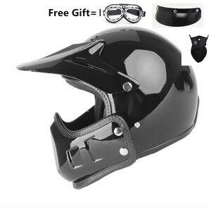 Image 1 - motocross casco moto vintage motorcycle helmet jet capacetes de motociclista off road cascos para moto thompson modular