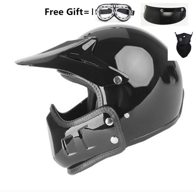 motocross casco moto vintage motorcycle helmet jet capacetes de motociclista off road cascos para moto thompson modular