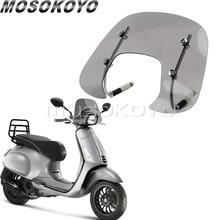 Motorcycle Windscreen Vespa Sprint Smoke for 150/150cc/Flyscreen/Bolt-on