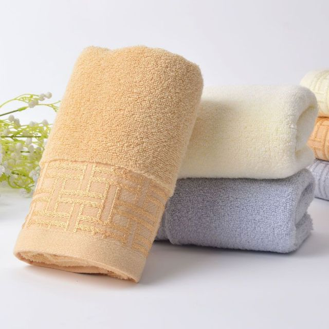 34*75cm Jacquard 100% Cotton Hand Towel Bathroom,Home Solid Decorative  Terry Face