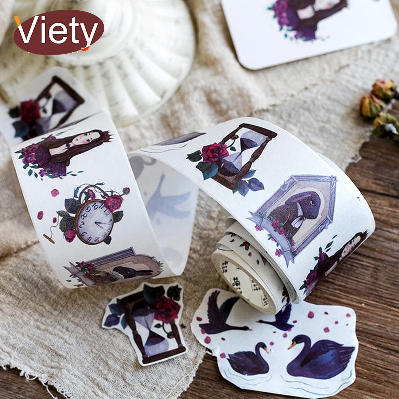 5cm*5m vintage gothic girl washi tape DIY decoration scrapbooking planner masking tape adhesive tape label sticker stationery infeel blue girl washi tape diy decorative scrapbooking planner masking label sticker stationery school supplies