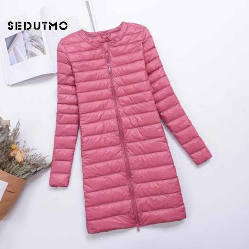 Sedutmo зима плюс Размеры 4XL женские пуховики Длинные ультра легкий утка вниз пальто пуховик тонкий Осенние парки ED488