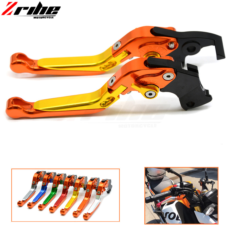 Brake Folding Adjustable Motorcycle accessories Brake Clutch Levers Telescopic folding For ktm Super Adventure 1290	2015-2016 billet alu folding adjustable brake clutch levers for motoguzzi griso 850 breva 1100 norge 1200 06 2013 07 08 1200 sport stelvio