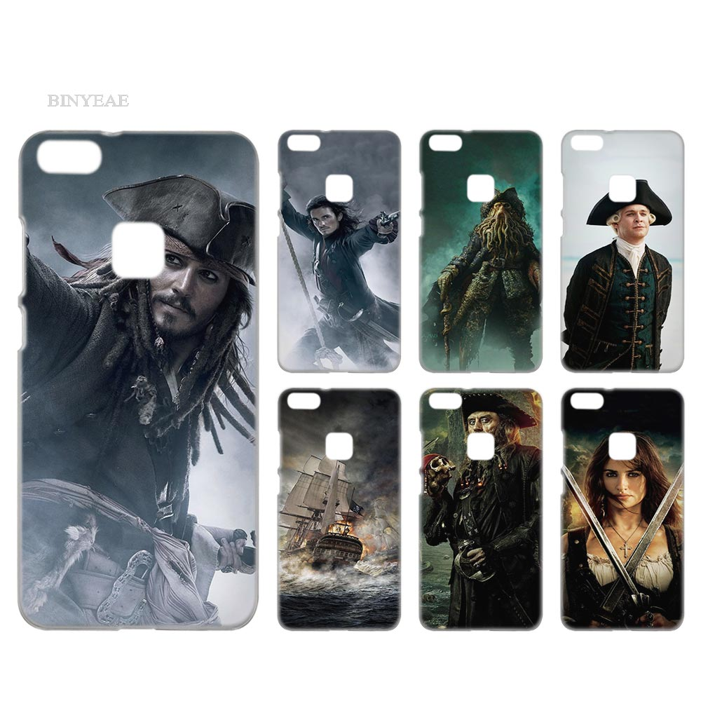 BINYEAE Pirates of the Caribbean Case Cover Hard Plastic for Huawei P8 P9 P10 P20 Lite Plus Pro Lite 2017