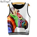 KaiTingu 2017 Brand New Fashion Women Sleeveless Zebra Print Crop Top Casual Top Women Cropped Tops Vest Tank Tops