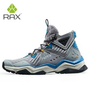 Image 2 - RAX גברים מקצועי נעלי הליכה מגפיים חיצוני מגפי טיפוס הרים קמפינג סניקרס לגברים טרקים מגפי גדול גודל