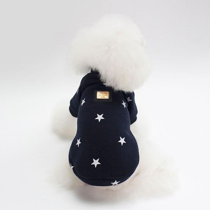 2018 nuevo perro ropa mascota cachorro ropa moda cinco puntas estrella perro sudaderas sudadera para Chihuahua Terrier Yorkshire S-2XL