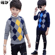boys sweaters kids winter boys pure cotton high quality knitted sweaters 4-15T children pullover clothes kids jacket autumn tops(China)