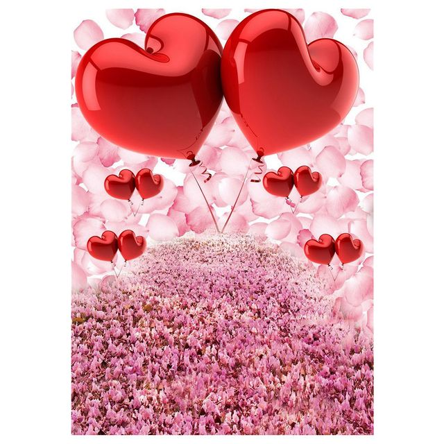 3x5ft Valentine S Day Vinyl Photography Backdrop Pink Flowers Petals