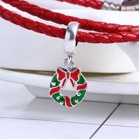 2017 Natale 100% Dell'argento Sterlina 925 di Festa Corona Ciondola il Fascino Misura Originale Pandora Charms Braccialetto di Perline per Monili Che Fanno