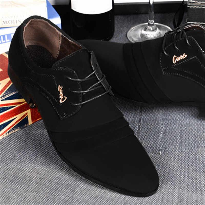Marka erkek İngiliz trend rahat ayakkabılar erkek süet Oxford deri dikiş ayakkabı Zapatillas erkek düz ayakkabı XL dans ayakkabıları