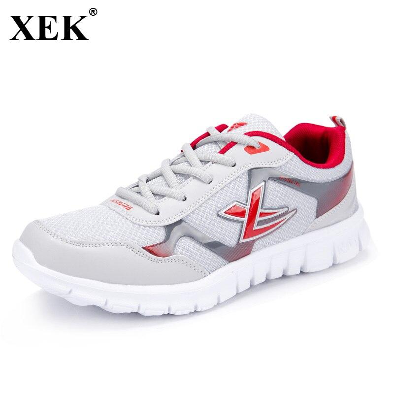 XEK Brand Hot Sale Men Women Sneakers New Arrivals Outdoors Mesh Light Breathable Non Slip Shoes Male Running Sneakers JH95