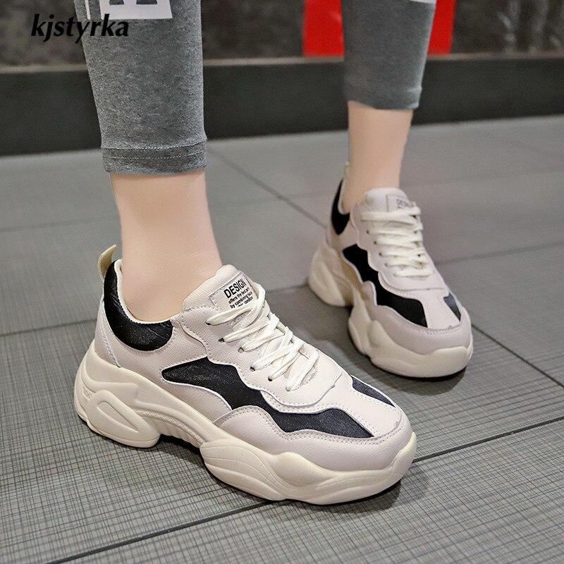 Pour Loisirs Noir noir Femmes Footwears Blanc Marche Sneakers Respirant Semelles Étudiants 2019 Femme Chaussures À Compensées Kjstyrka Mode Classique Beige nSqxapc