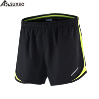 ARSUXEO 2016 Mens Sports 3 Running Shorts Training Jogging Shorts B165