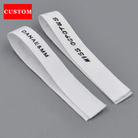 Factory Customized Made Garment Washing Label White Cotton Clothing Printed Personalized Clothing Labels Sewing Accessories