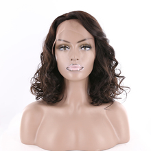 KEMY Glueless Loose Wave Lace Front Wig Human Hair Remy Hair Side Part Wigs For Black Women Brazilian Hair 16″ Natural Color