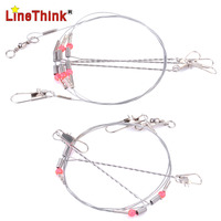2PCS/LOT 70LB 77CM Wire Rig With 2 Arm and 3 Arm Fishing Leader Line Free Shipping