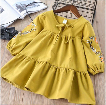 YP32078834 2018 Baby Girls Dress Embroidery Flower Fashion Girl Dress Full Sleeve Princess Baby Dress Girls Clothes