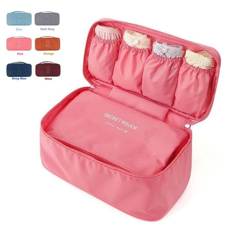 LHLYSGS Brand Bra Underwear Organizer Bag For Women Travel Waterproof Toiletry Storage Makeup Case Beauty Cosmetic Bags