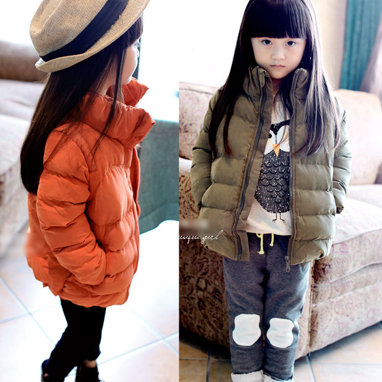 ФОТО Free shipping- Winter boys girls more leisure bubble cotton quilted jacket