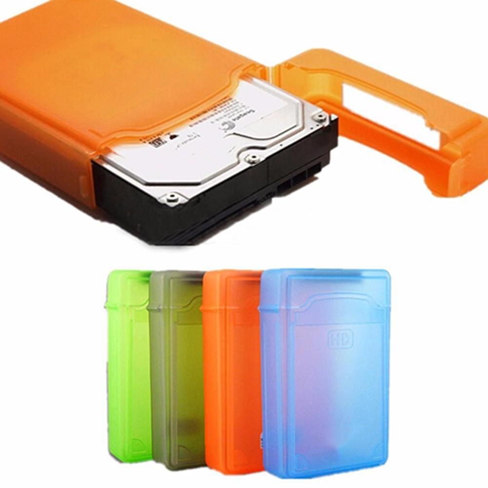 Wholesale New 3.5 Inch Dust Proof Plastic IDE SATA HDD Hard Drive Disk Storage Box Case Cover