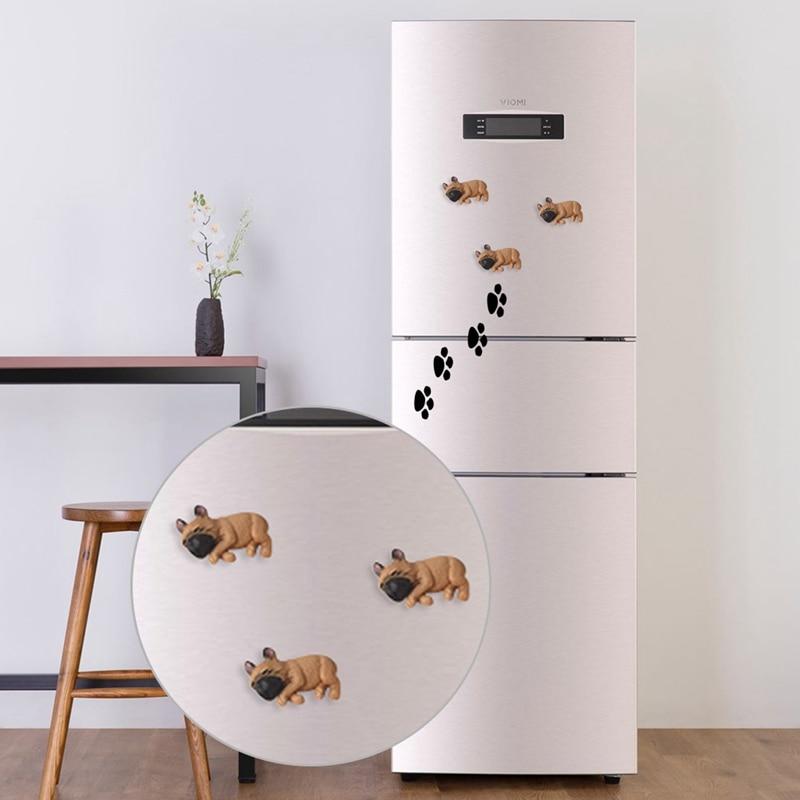 Funny English Bull Dog Puppy   Refrigerator Tool  Box  Magnet