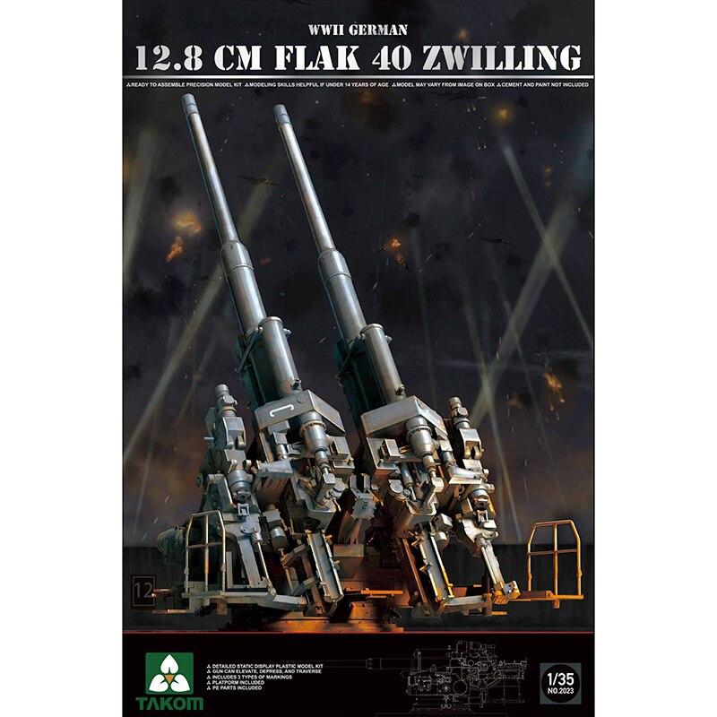 1 35 TAKOM 2023 12 8CM FLAK 40 ZWILLING model hobby