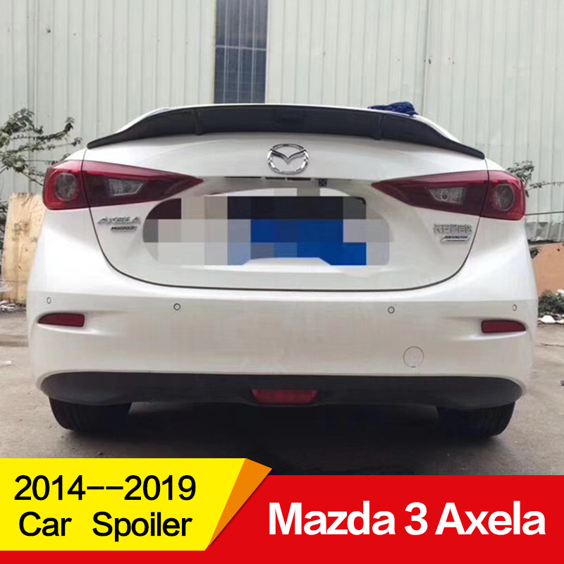 Use for NEW <font><b>Mazda</b></font> <font><b>3</b></font> Axela <font><b>spoiler</b></font> 2014 15 16 17 18 19 year glossy carbon fiber/FRP rear wing R style <font><b>spoiler</b></font> Accessories image