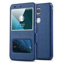 Huawei GR5 случае Высокое качество окно PU кожаный чехол для Huawei GR5 Huawei Honor 5×5.5 дюйма с телефон веревку #0607